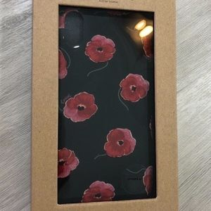 Coach iPhone XR case with Poppy Print Black Multi